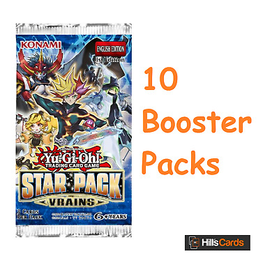 Yu-Gi-Oh TCG Star Pack VRAINS 10 Sealed Booster Packs - SP18 Cards -Trickstar