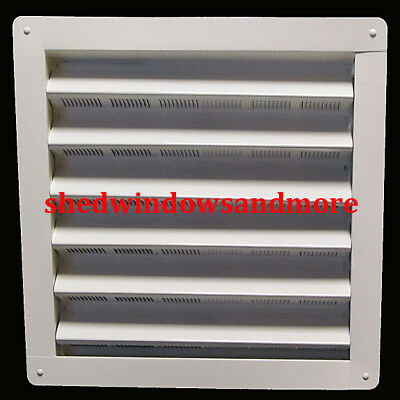 """Vent Gable Wall 8"""" x 8"""" Aluminum White Shed Chicken Coop Playhouse Barn Vents"""