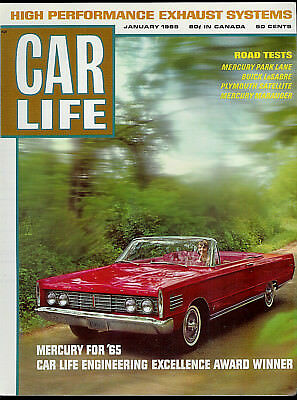 Mercury Park Lane 1965 Car Life Road Test Super Rare Original Factory Brochure!