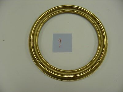 """10"""" ROUND PICTURE FRAMES ANTIQUE GOLD (LOT OF 4) Free Shipping"""