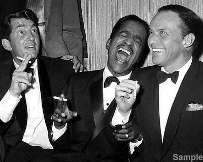 Dean Martin Sammy Davis JR & Frank Sinatra The Rat Pack 10x8 Photo Print