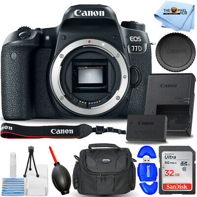Canon EOS 77D DSLR Camera (Body Only) #1892C001 STARTER BUNDLE BRAND NEW