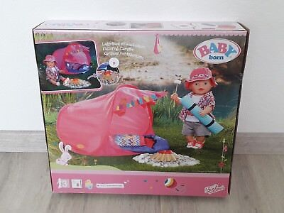 Zapf Creation 823743 - Baby born Play und Fun Camping Set Zelt Schlafsack NEU