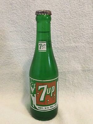 FULL 7oz 7up DANCING LADY ACL SODA BOTTLE SEVEN-UP