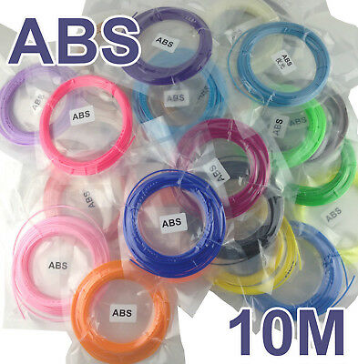 10M EASY Multicolor 1.75mm 3D Printing Filament ABS Modeling For 3D Printer Pen