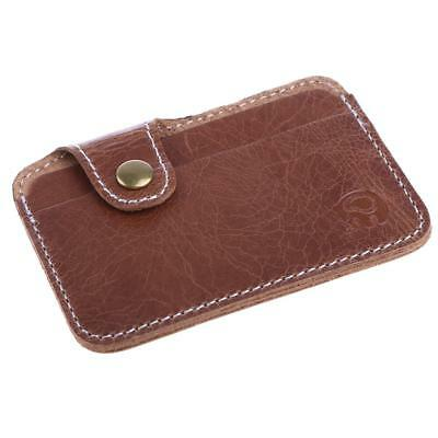 Brand New Premium Money And Card Clip In Walnut Brown Pu Leather Id Card