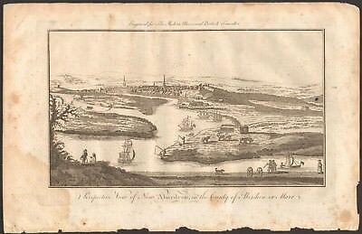 1779 ca ANTIQUE PRINT- PERSPECTIVE VIEW OF NEW ABERDEEN