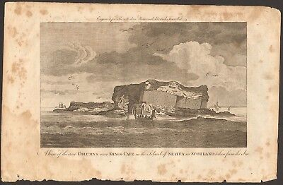 1779 ca ANTIQUE PRINT- SHAGS CAVE, ISLE OF STAFFA FROM THE SEA