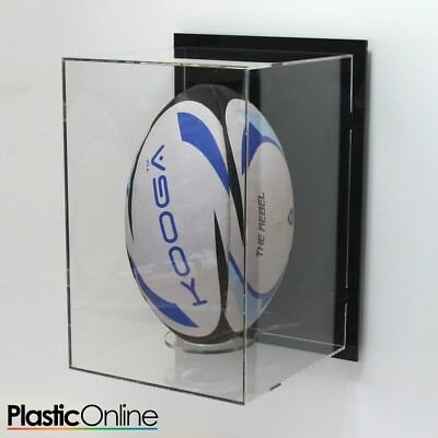 Wall Mounted Rugby Ball Display Case Signed Autographed Ball Shelf Vertical