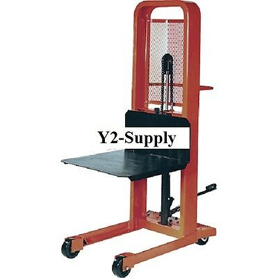 NEW! Hydraulic Stacker Lift Truck M166 1000 Lb. with Platform!!