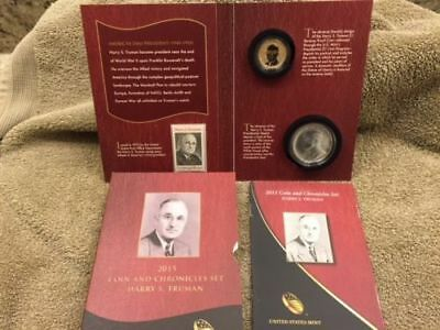 2015 HARRY S. TRUMAN COIN AND CHRONICLES SET 1st Presidential Reverse Proof