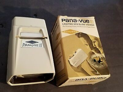 Sawyer's Pana-Vue II Lighted 2X2 Slide Viewer in Original Box DISPLAY ONLY