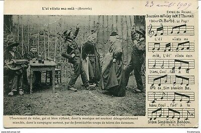CPA -Carte postale-  France - Bourrées du Velay de M. F. Thomas - 1909 (CP1006)