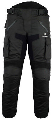 Men's Biker Rider Trouser CE Waterproof Winter Thermal Quilt Removable Lining UK