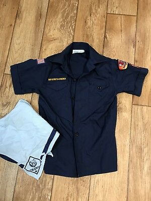 BSA Cub/Boy Scouts Of America Official Youth M Uniform Shirt Blue