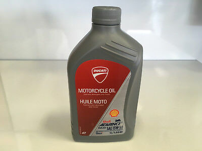 Shell Advance Ducati SAE 15W50 Motorcycle Engine Oil 1L One Bottle NEW T4 Ducati
