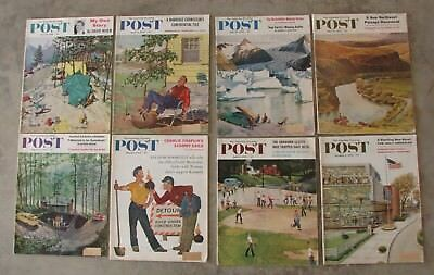 Mixed Lot Of Vintage 1950's The Saturday Evening Post Magazines