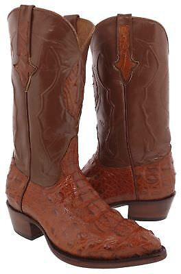 Mens Chedron All Real Hornback Crocodile Leather Cowboy Boots Western J Toe