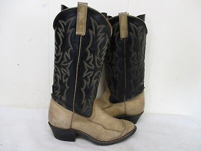 171d6556af7 TEXAS BRAND SMOKEY Tan Leather Cowboy Boots Mens Size 6.5 D Style 5313 USA