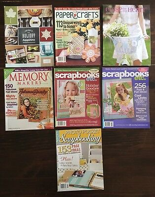Lot of 7 Rubber Stamping Paper Craft Card Making Scrapbook Crafting Magazines