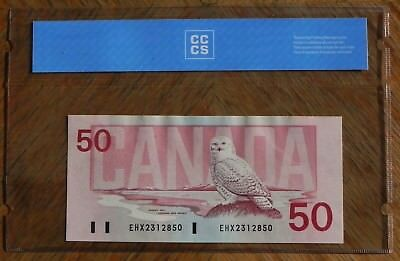 Superb Gem 1988 $50 Replacement Bank of Canada Note Certified UNC-65 Gem UNC