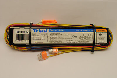 Universal Triad Electronic Ballast C240PUNVHP-B For 1 or 2 FT40W/2G11 120/277 V