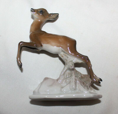 Rosenthal Figurine of a Leaping Deer Exc. Cond. Free shipping in the U.S.