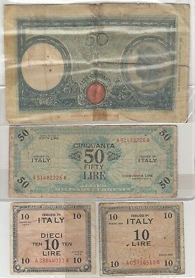 1943 Lire Banknote Italy Paper Money