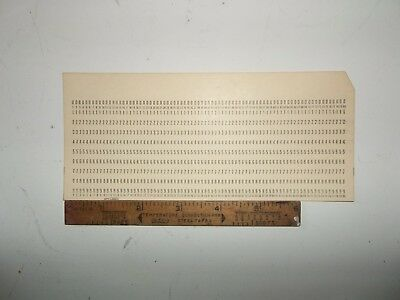 "10 x IBM Brand Punch Cards Vintage ""5081"" NOS"
