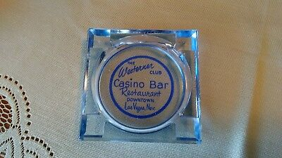 Rare Blue Westerner Casino Ashtray Las Vegaas Nevada Chip Guide Doesn't Have