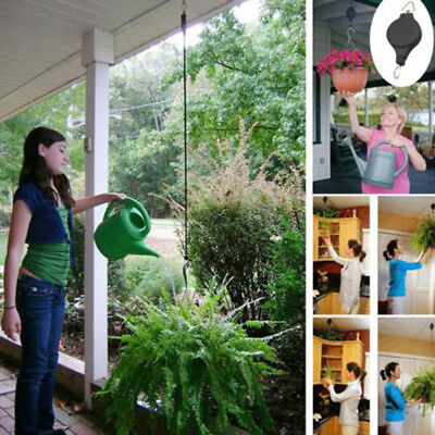 Retractable Pulley Plant Hanging Basket Pull Down Hanger Home Garden Baskets Pot