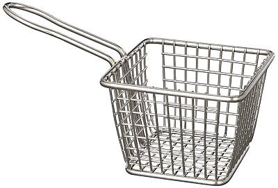 American Metalcraft FRYS443 Stainless Steel Square French Fry Basket Holder, ...