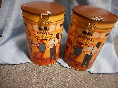2 Unused Tim Hortons First Edition Gathering Place Collector Canisters Coffee