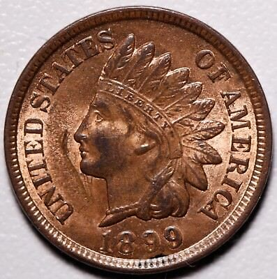 1899 INDIAN HEAD CENT - BU UNC - With CARTWHEELING MINT LUSTER!