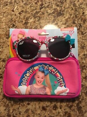 JOJO SIWA SUNGLASSES WITH CARRYING CASE DREAM CRAZY BIG 100% UV Protection