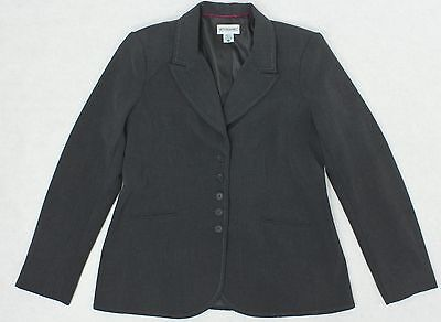 MOTHERHOOD Womens Maternity size M Dark Grey Blazer Dress Jacket