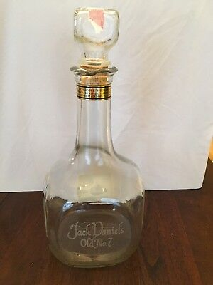 VINTAGE JACK DANIELS OLD ( No 7. ) TRIBUTE TO TENNESSEE WHISKEY DECANTER BOTTLE