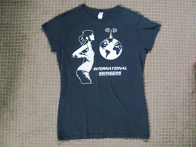 International Swingers T-Shirt Womens Large Black clem burke glen matlock band