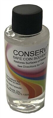 Coin Cleaning Conserv Solvent Safe Cleaner Tarnish Stains Remover 2 oz Free Post