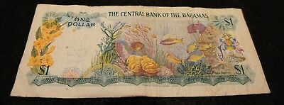1965 Bahamas 1 Dollar Note in Very Good Condition Nice Note!!