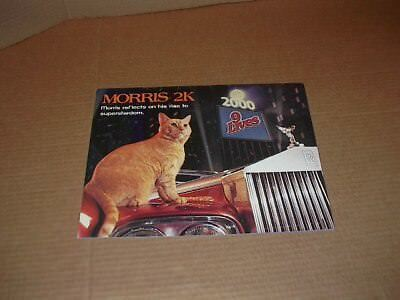 """""""Morris"""" 2000 9Lives Calendar  """"Morris Reflects on His Rise to Superstardom"""" New"""
