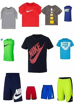 New Nike DRI FIT Shirt Shorts Boys Size S, M, X, XL Many Choices