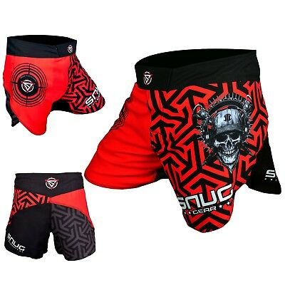 Mens & Kids MMA Hybrid Fighting Shorts Grappling Kick Boxing Cage Fight UFC BJJ