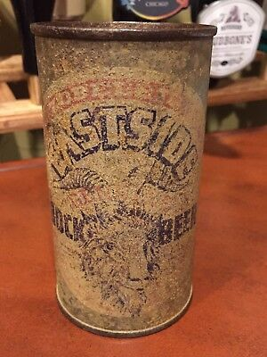 ZOBELEIN'S EASTSIDE GENUINE BOCK BEER Flat Top Beer Can, Los Angeles Brewing Co.