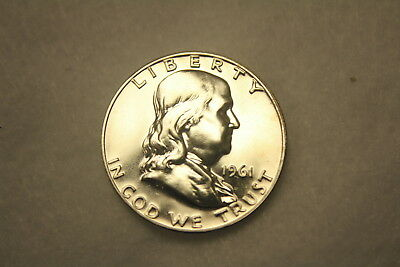 (1) 1 Coin, 1961 P Franklin PROOF Half Dollar Taken from Roll