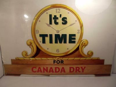 "Vintage Unused? ""It's Time For Canada Dry"" Ginger Ale Display Piece c19??"