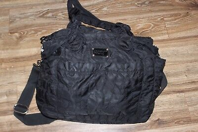 Marc Jacobs Pretty Nylon Eliz-A-Baby Tote Diaper Baby Bag Black