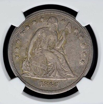 1846 Liberty Seated Silver Dollar Ngc Xf Registry Coin