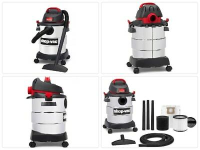 Shop-Vac Wet-Dry Vacuum Vac 6 Gallon 4.5 Peak HP Stainless Steel Blower Car New