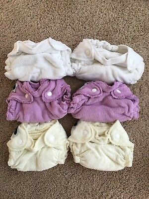 Imagine Newborn Bamboo Fitted Cloth Diapers, Set of 6